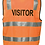 Thumbnail: Printed Visitor Day/Night Vest with Zip - Orange