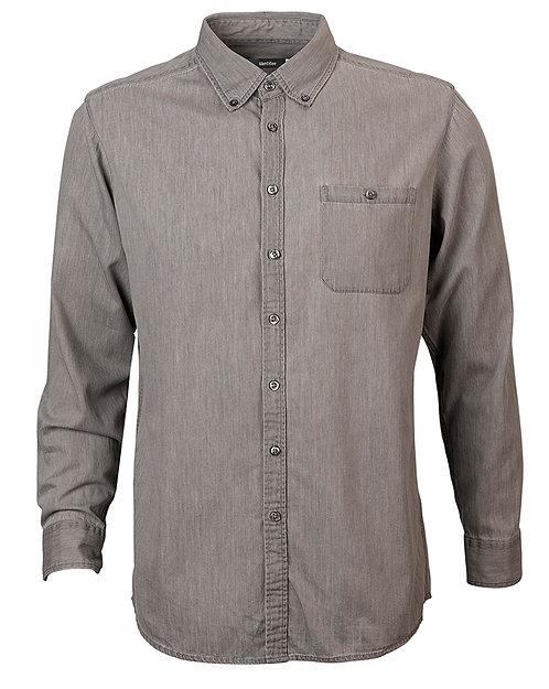 Men's Dylan Long Sleeve Denim Shirt - Vintage Grey