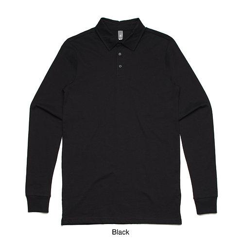 Mens L/S Polo Jersey Shirt Black