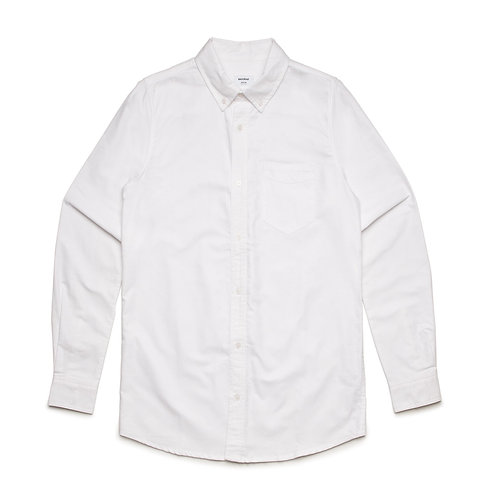 AS Colour Mens 100% Cotton Shirt White - Available from