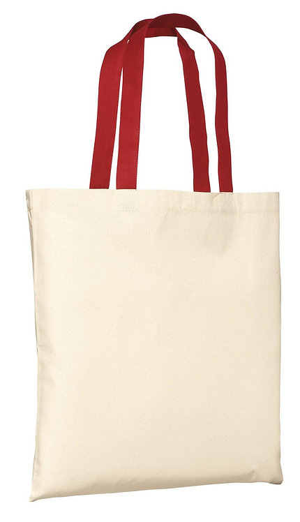 SR (Social Responsibility) Canvas Tote Natural / Red - MOQ 50