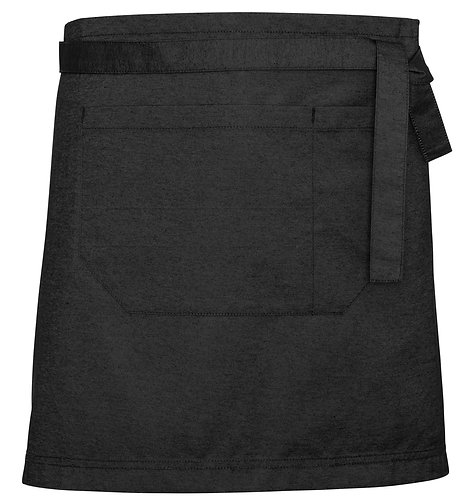 Black Denim Easy Waist Apron with Changeable Straps