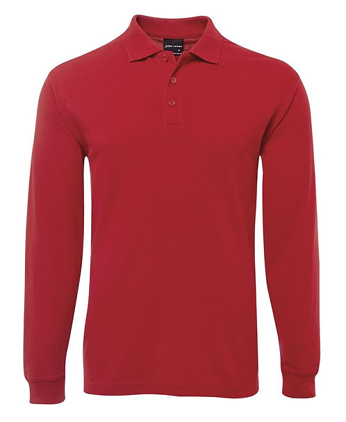 Long Sleeve Polo Shirt - Red