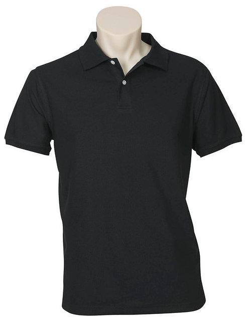 Men's Neon Polo - Black