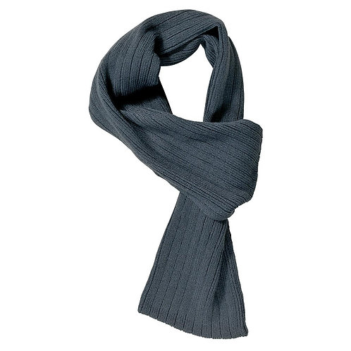 Cable Knit Scarf Charcoal - MOQ 10
