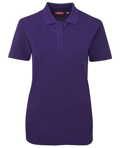Ladies Basic Pique SS Polo - Purple