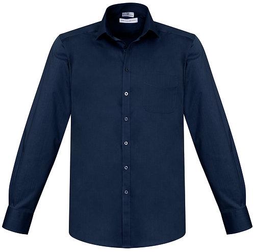 Mens Monaco L/S Shirt - Navy