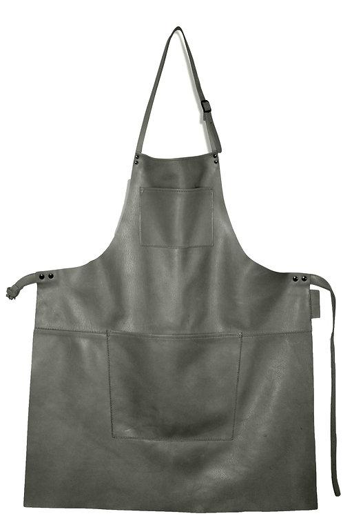 The European Leather Apron Dark Grey