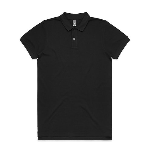 AS Colour Mens Pique Polo Black 100% Cotton - Available From