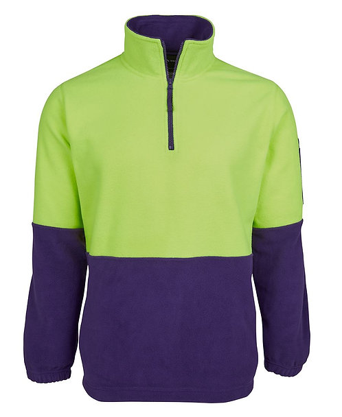 Hi VIs 1/2 Zip Polar Fleece - Lime/Purple
