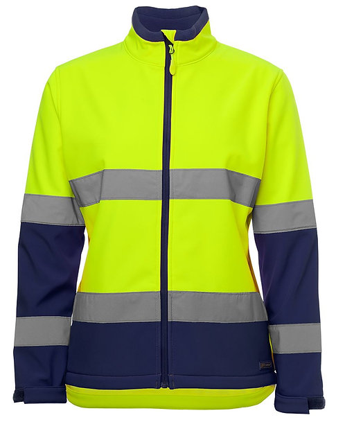 Womens Hi Vis D+N Water Resistant Soft - Lime / Navy