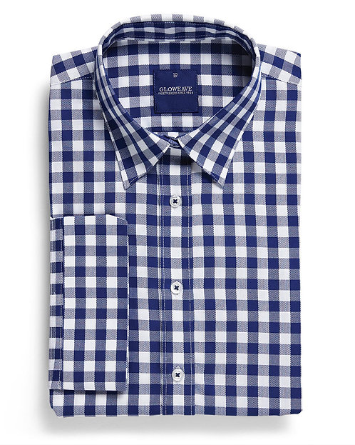 Womens Oxford Check Shirt Navy