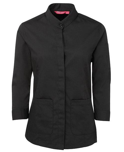 Ladies 3/4 Mandarin Collar Shirt