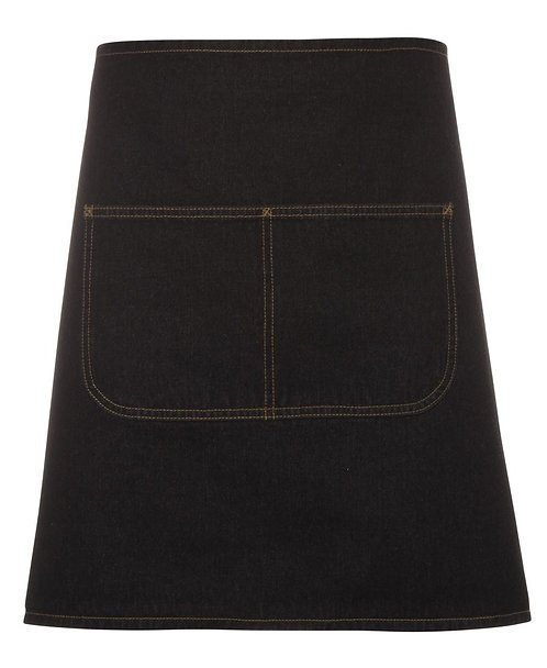 Black Denim Waist Apron with Strap