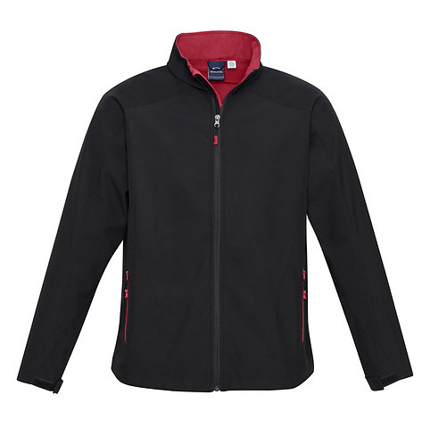 Mens Geneva Jacket - Black/Red