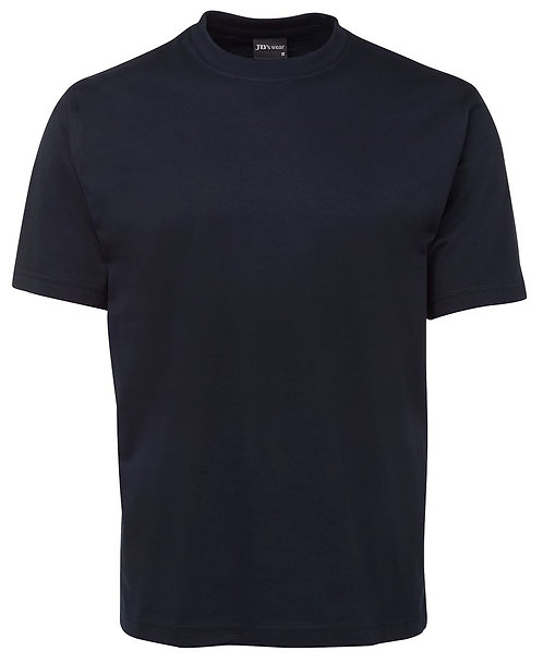Mens 100% Cotton Tee Navy MOQ 10