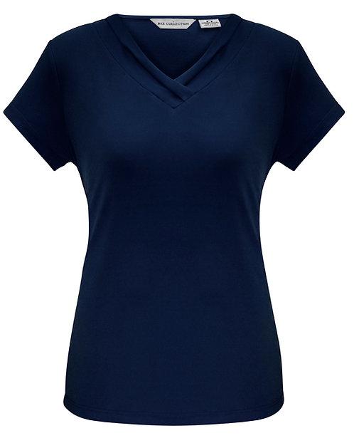 Ladies Lana Short Sleeve Top - Ink