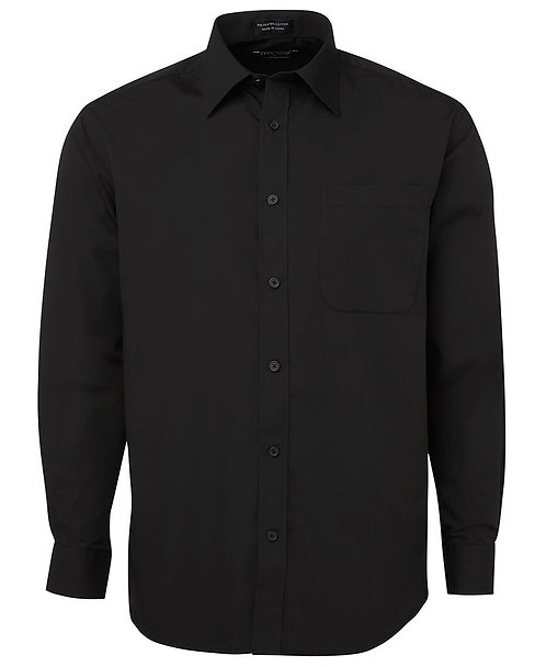 Mens LS Poplin Shirt - Black