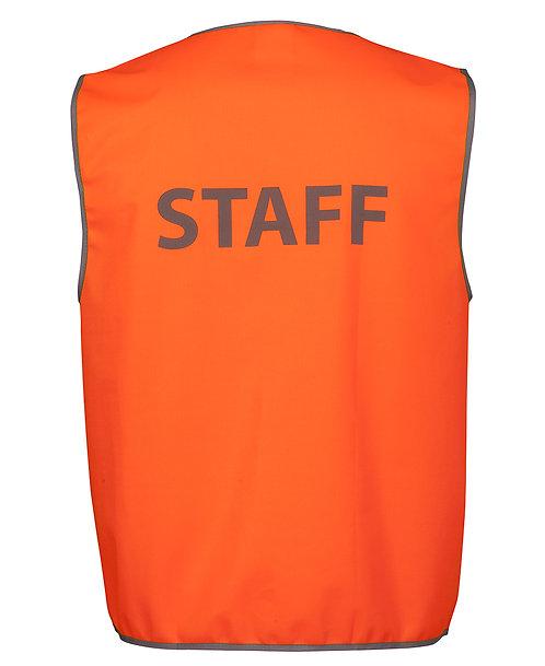 Hi Vis Safety Vest Staff - Orange