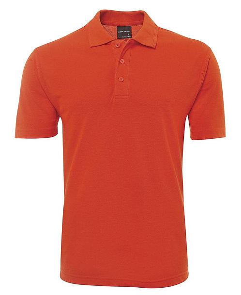 Mens Basic Pique Polo SS - Orange