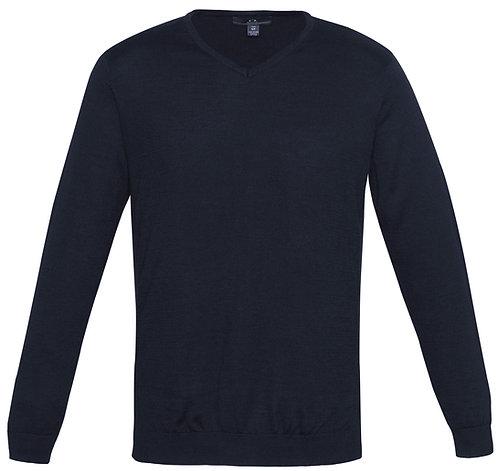 Mens Milano Wool Blend Pullover - Navy