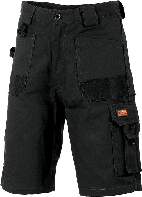 DNC Duratex Cotton Duck Weave Cargo Shorts - Black
