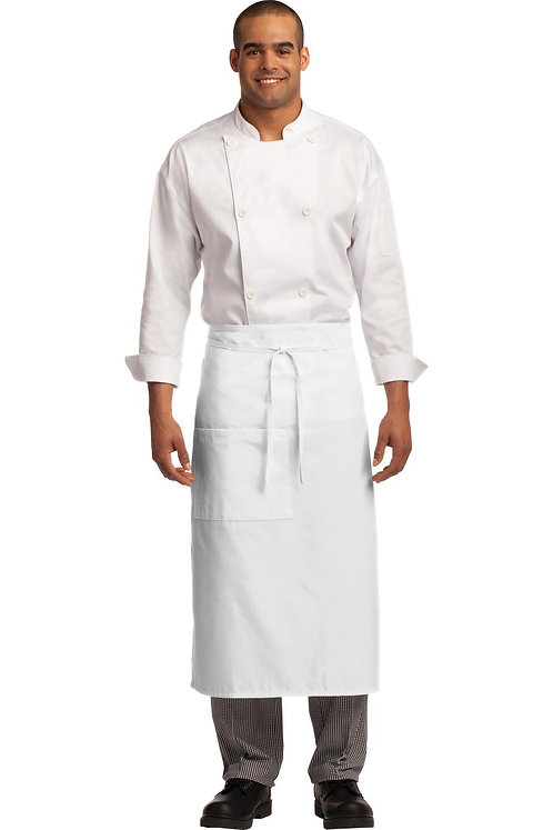 Easy Care Full Bistro Apron With Stain Release White MOQ 5