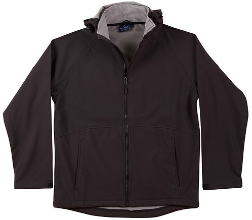 Womens Softshell Hood Jacket - Black