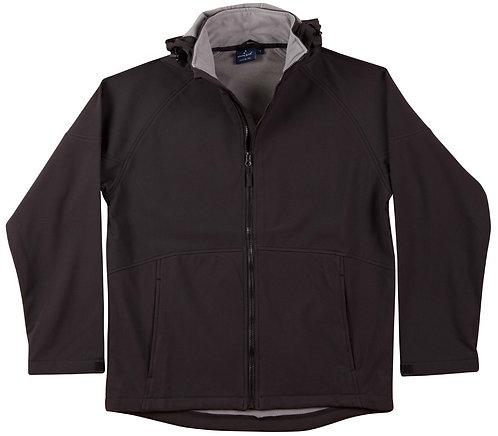 Mens Team Softshell Hood Jacket Men's - Black x6