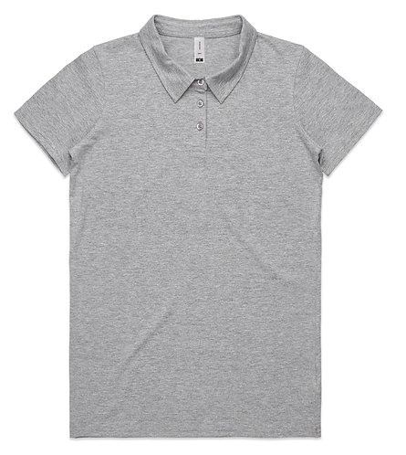 AS Colour Womens Amy Polo - Grey Marle