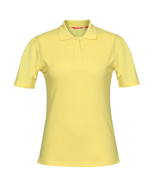 Ladies Basic Pique SS Polo - Yellow