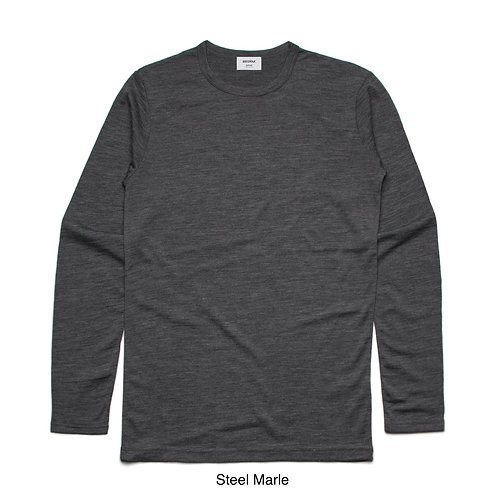 AS Colour Mens 100% Merino LS Tee - Available from