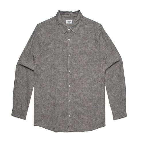 AS Colour Cotton/Linen Shirt Grey Marle - Available from