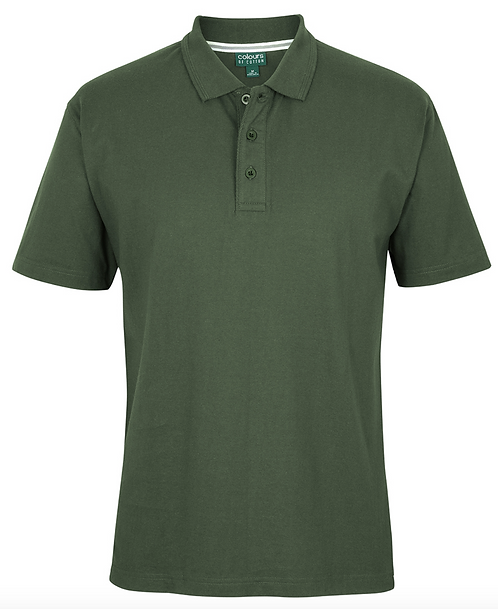 COLOURS OF COTTON JERSEY POLO - ARMY