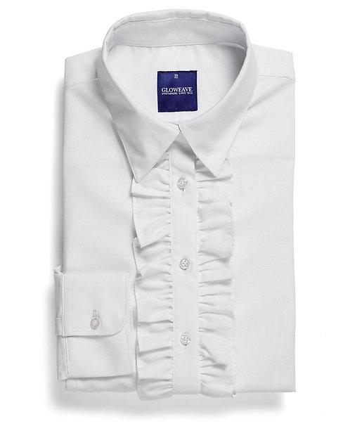 Womens Cotton Rich Oxford Weave Shirt - White