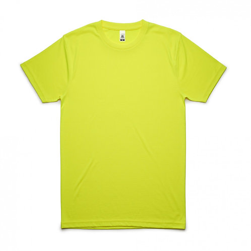 AS Colour Block Tee  Safety Yellow - From