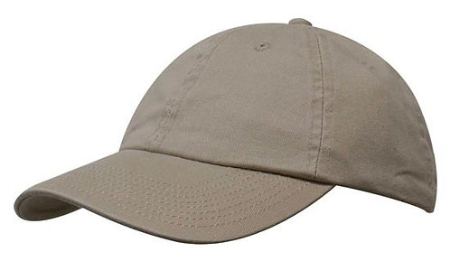 Washed Chino Twill Cap Clay- MOQ 10