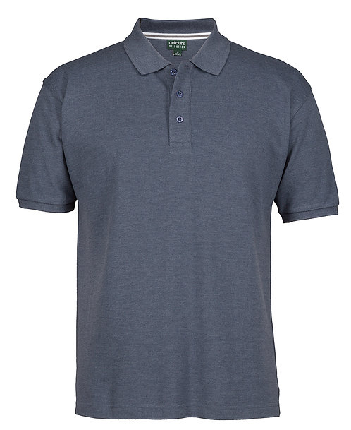 Mens Cotton Rich Pique SS Polo - Denim Marle