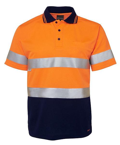 Hi Vis S/S (D+N) Traditional Polo - Orange/Navy