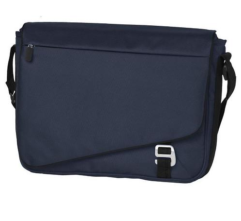 Messenger Laptop Bag - Dark Steel Blue / Black MOQ 10