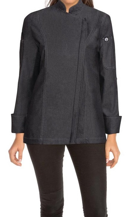 Gramercy Womens Denim Zipper Jacket - Black