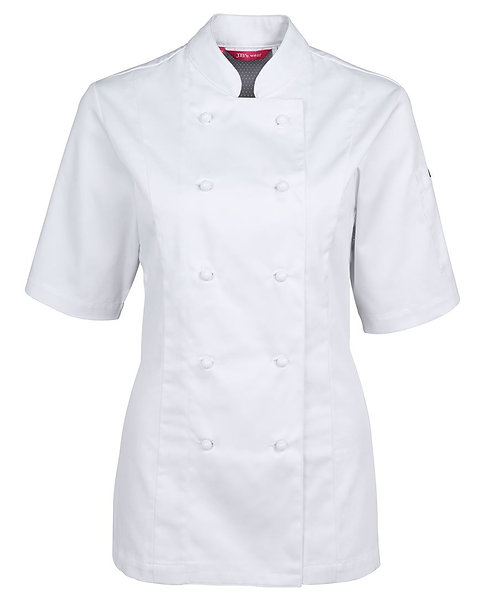 Ladies Vented SS Chef's Jacket - White