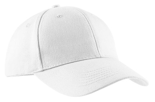 100% Cotton Twill Cap White - MOQ 5