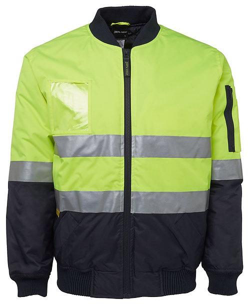 Hi Vis (D+N) Flying Jacket - Lime/Navy