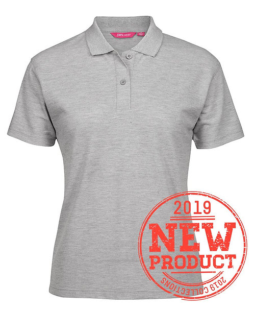 Ladies Basic Pique SS Polo - Grey Marle