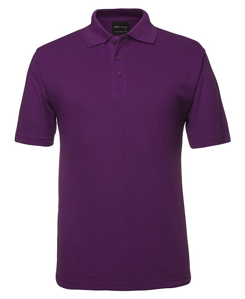 Mens Basic Pique Polo SS - Mulberry