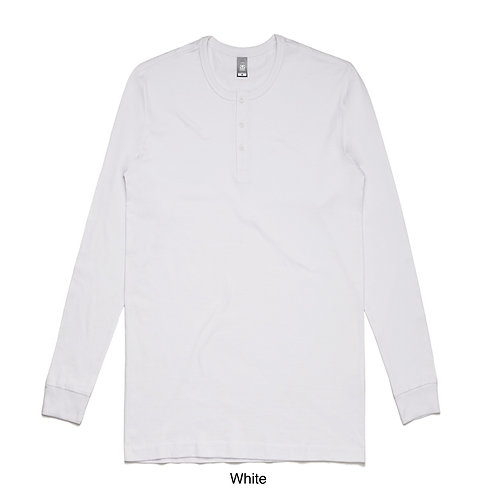 AS Colour Mens Henley LS Tee - Available from