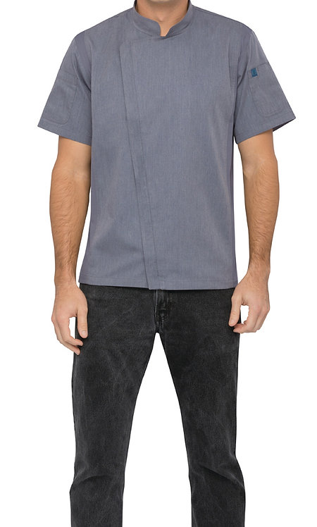 Springfield Mens Zipper Chef Jacket - Ink Blue