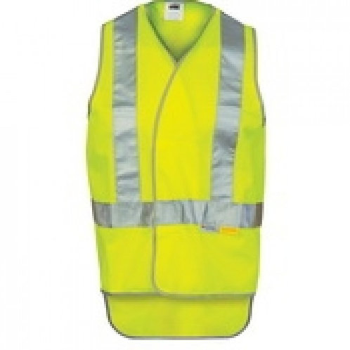 Day/Night Cross Back Safety Vests with Tail (LIME) MOQ 3