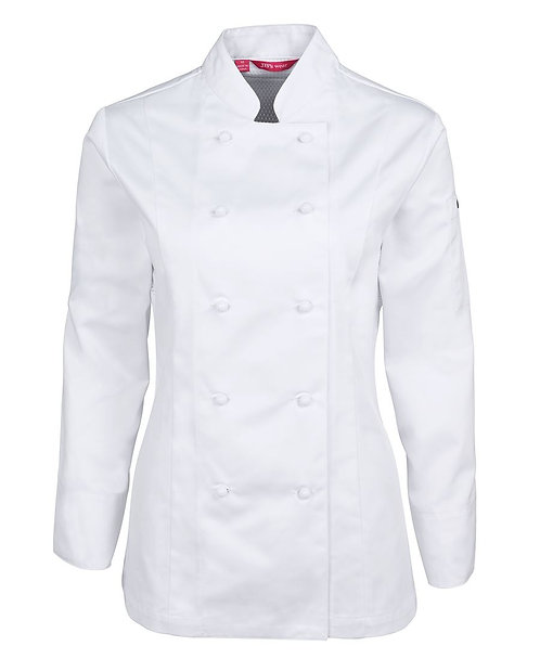 Ladies Vented L/S Chef's Jacket - White